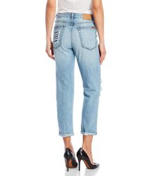 Joe's Jeans - Blue The Debbie Crop Distressed Jeans - Lyst