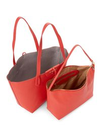 Patrizia Pepe - Red Coral & Silver Reversible Shopper Tote - Lyst