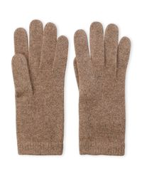 Portolano - Brown Solid Cashmere Gloves - Lyst