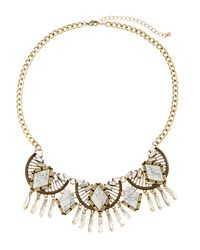 Catherine Stein - Metallic Gold-Tone Multiple Accented Necklace - Lyst