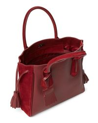 Longchamp - Red Burgundy Penelope Small Tote - Lyst