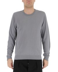 Maison Margiela - Gray Elbow Patches Knit Sweater for Men - Lyst