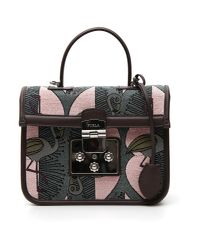 Furla - Black Flamingo Print Crossbody Bag - Lyst