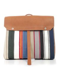 Maison Margiela - Multicolor Oversized Striped Backpack - Lyst