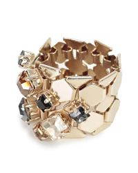 Lanvin - Metallic Crystal Embellished Ring - Lyst