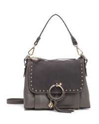 See By Chloé - Brown Studded Satchel Bag - Lyst