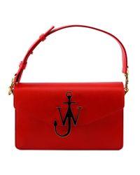 J.W. Anderson - Red Anker Logo Shoulder Bag - Lyst
