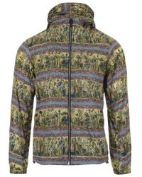 Burberry - Green Print Hooded Jacket for Men - Lyst