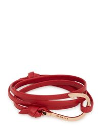 Miansai | Red Hook Leather Wrap Bracelet for Men | Lyst