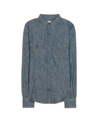 Citizens of Humanity - Blue Capucin Chambray Shirt - Lyst