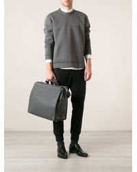 Fendi - Gray Textured Tote for Men - Lyst
