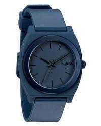 Nixon - Blue 'the Anodaze Time Teller' Watch - Lyst