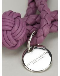 Bottega Veneta - Purple Woven Bracelet - Lyst