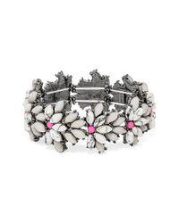 BaubleBar | Metallic 'tiffany' Crystal Stretch Bracelet - Howlite/ Hematite | Lyst