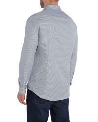 Michael Kors - Blue Ace Slim Fit Check Shirt for Men - Lyst