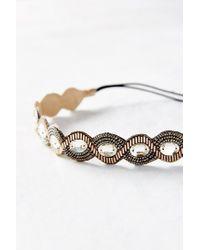 Urban Outfitters - Metallic Crystal Braid Headband - Lyst