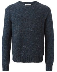 Valentino - Blue Crew Neck Sweater for Men - Lyst