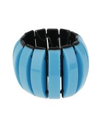 Mikey | Blue Curved Beads Elastic Bracelet | Lyst