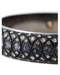 Lanvin - Gray Embellished Bangle - Lyst