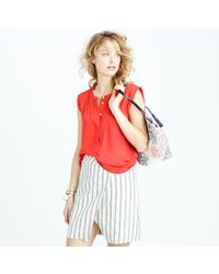J.Crew | Pink Sleeveless Drapey Popover Shirt | Lyst