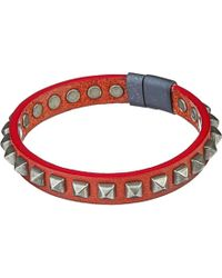 Tateossian - Brown Studded Leather Bracelet for Men - Lyst