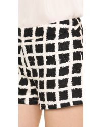Blaque Label - Checkered Shorts Ivoryblack - Lyst