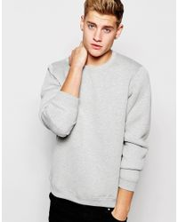 Jack & Jones - Gray Pique Sweatshirt for Men - Lyst