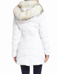 Laundry by Shelli Segal | White Quilted Faux Fur-trimmed Jacket | Lyst