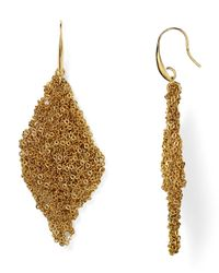 Diane von Furstenberg | Metallic Thea Mesh Drape Earrings | Lyst