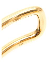 Chloé | Metallic Cate Simple Bracelet | Lyst