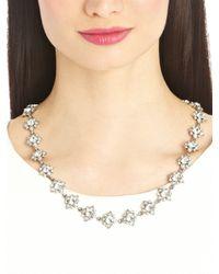 Oscar de la Renta - Metallic Swarovski Crystal Delicate Star Necklace - Lyst