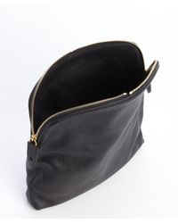 Alexander McQueen - Black Leather Skull Padlock Folded Clutch - Lyst