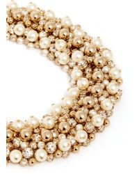 Valentino | Metallic Pearl Crystal Cluster Choker Necklace | Lyst