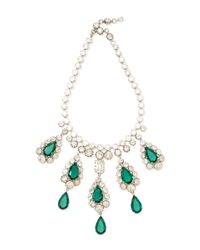 Carole Tanenbaum | Green Unsigned Schreiner Statement Necklace | Lyst