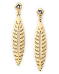 Rebecca Minkoff | Metallic Leaf Earring | Lyst