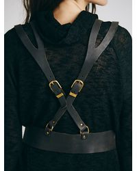 Free People | Brown Cruz Harness Vest | Lyst