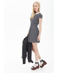 Forever 21 - Blue Dotted Peter Pan Collar Dress - Lyst
