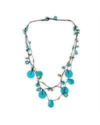 Aeravida | Blue Flowing Cascades Turquoise Stone Necklace | Lyst