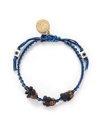 Venessa Arizaga | Blue See No Evil Hear No Evil Speak No Evil Bracelet | Lyst