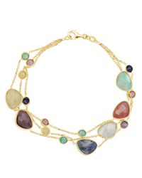 Lord & Taylor | Multicolor 14 Kt. Yellow Gold Multi Stone Necklace | Lyst