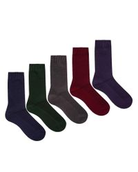 ASOS - Multicolor 5 Pack Waffle Socks Save 33% for Men - Lyst