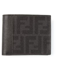 Fendi - Black Monogram Wallet for Men - Lyst