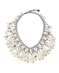 R.j. Graziano | White Pearly Bib Necklace | Lyst