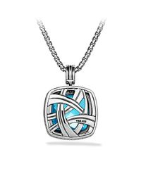 David Yurman | Blue Albion Pendant With Diamonds, 20mm Gemstone | Lyst
