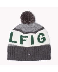 Tommy Hilfiger | Gray Printed Beanie for Men | Lyst