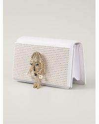 Roberto Cavalli | White Stud-Embellished Mask Clutch | Lyst