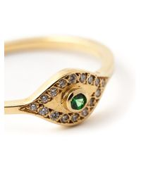 Ileana Makri - Green 'wisdom Eye' Ring - Lyst