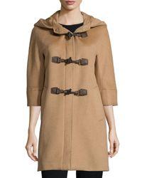 Cinzia Rocca | Brown Alpaca-blend Toggle-front Jacket | Lyst