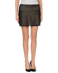 Just Cavalli - Natural Mini Skirt - Lyst