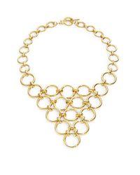 Trina Turk | Metallic Golden Ring Statement Necklace | Lyst